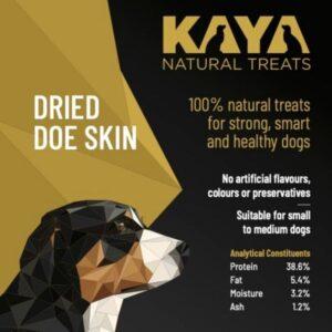 Kaya Natural Treats Dried Doe Skin from The Pet Parlour Dublin