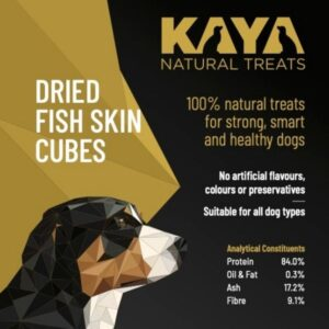 Kaya Natural Treats Dried Fish Skin Cubes from The Pet Parlour Dublin