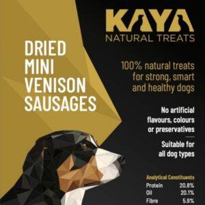 Kaya Natural Treats Venison Sausages from The Pet Parlour Dublin