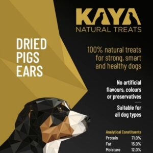 Kaya Natural Treats Dried Pigs Ears from The Pet Parlour Dublin