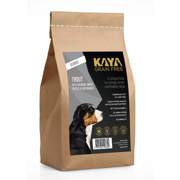 Kaya Grain Free Dog Food Senior Trout Fish The Pet Parlour Ireland