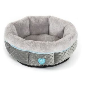 Small Bite Fluffy Dog Bed Blue The Pet Parlour Dublin