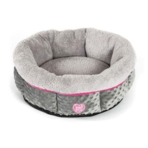 Small Bite Fluffy Dog Bed Pink The Pet Parlour Dublin