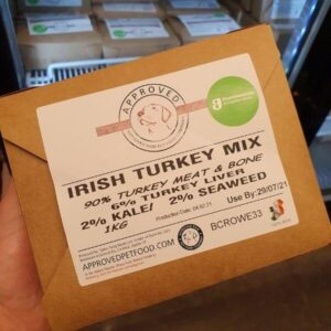 Approved Raw Turkey Mix Dog Food from The Pet Parlour Dublin.