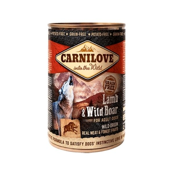 Carnilove Lamb & Wild Boar Wet Dog Food available from The Pet Parlour Dublin.