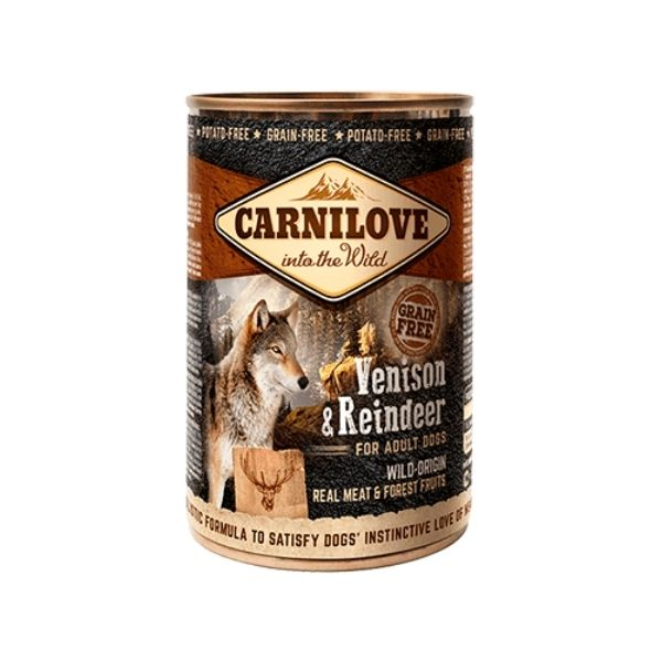 Carnilove Venison Reindeer Wet Dog Food available from The Pet Parlour Dublin