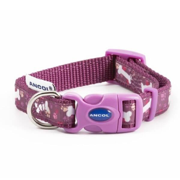 Ancol Dog Collar Pink Bone The Pet Parlour Dublin