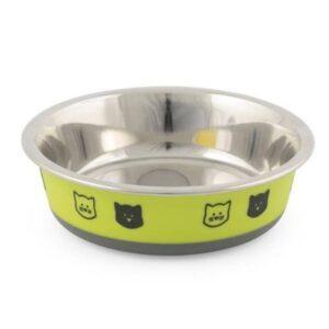 ancol steel cat dish